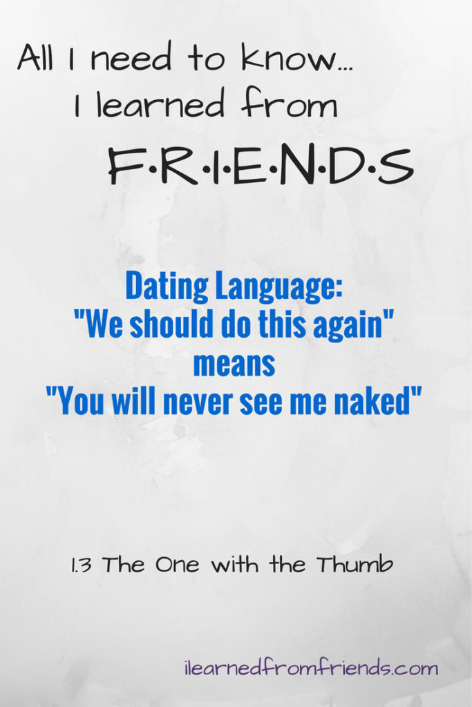 Friends dating language